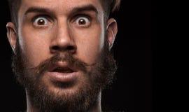Close-up portrait of amazed guy Royalty Free Stock Photos
