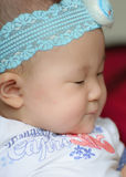 Close up portrait of a asian baby girl Royalty Free Stock Image