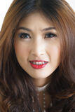 Close-up portrait of attractive beautiful Asian woman. Royalty Free Stock Images