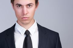 Close up portrait of an attractive business man face Royalty Free Stock Photos