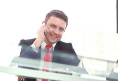 Close up portrait of an attractive businessman smiling Royalty Free Stock Image