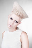 Close-up portrait of attractive punk blond woman Stock Photo