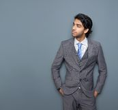 Close up portrait of an attractive young business man Stock Images