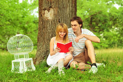 Close up portrait of attractive young couple royalty free stock images
