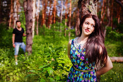 Close up portrait of attractive young couple Stock Images