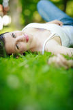 Close-up portrait of an attractive young woman Royalty Free Stock Photo