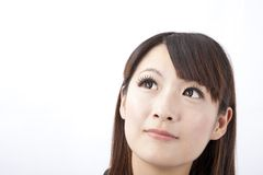 Close-up portrait of a beautiful asian woman Stock Photography