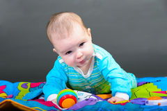 Close-up portrait of a beautiful baby girl Royalty Free Stock Photo