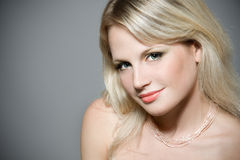 Close-up portrait of a beautiful blond woman Royalty Free Stock Photos