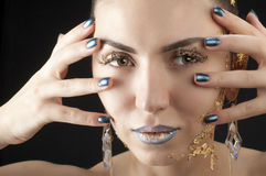 Close-up portrait of beautiful brunette Stock Image