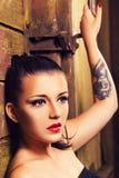 Close-up portrait of beautiful brunette Stock Photography