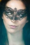 Close-up portrait of beautiful brunette woman Stock Photo