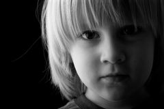 Close-up portrait of a beautiful child Royalty Free Stock Image