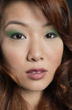 Close-up portrait of beautiful Chinese woman Stock Image