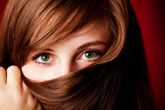 Close-up portrait of beautiful girl Royalty Free Stock Images