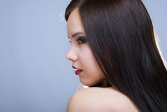 Close-up portrait of beautiful girl Royalty Free Stock Image