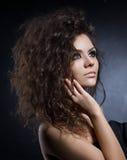 Close up portrait of a beautiful girl Stock Photos