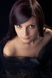 Close-up portrait of a  beautiful  lady Royalty Free Stock Photo