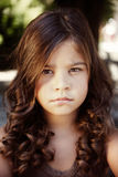 Close-up portrait of a beautiful little girl Royalty Free Stock Image