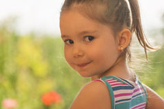 Close up portrait of a beautiful little girl Royalty Free Stock Image