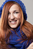 Close-up portrait of a beautiful redhead woman Royalty Free Stock Photo