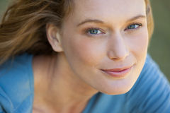 Close-up portrait of beautiful relaxed woman Royalty Free Stock Images