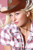 Close-up portrait of beautiful rodeo girl Royalty Free Stock Photos