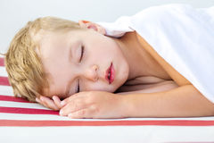 Close-up portrait of a beautiful sleeping kid Royalty Free Stock Photography