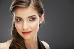 Close up portrait of a beautiful smile young woman Stock Images