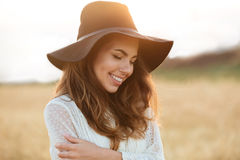 Close up portrait of a beautiful smiling woman Royalty Free Stock Photo