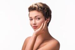 Close up portrait of beautiful stunning woman Stock Image