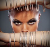 Close up portrait of beautiful woman Royalty Free Stock Images