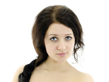 Close-up portrait of beautiful woman. Royalty Free Stock Photos