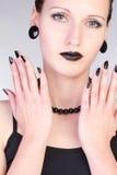 Close-up portrait of beautiful woman royalty free stock photo
