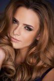 Close up portrait of beautiful woman stock photography