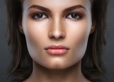 Close up portrait of beautiful woman face Stock Photography