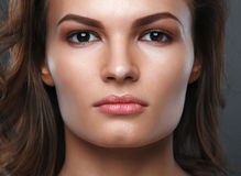 Close up portrait of beautiful woman face Royalty Free Stock Photography