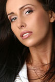 Close-up portrait of beautiful woman half face Stock Images