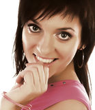 Close-up portrait of a beautiful woman. Royalty Free Stock Images