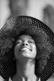 Close up portrait of a beautiful young african american woman sm Royalty Free Stock Photo
