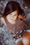 Close-up portrait of a beautiful young girl Stock Photography