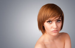 Close up portrait of beautiful young naked girl Stock Image