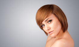 Close up portrait of beautiful young naked girl Royalty Free Stock Images