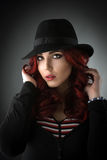 Close up portrait of a beautiful young redhead woman Royalty Free Stock Photos