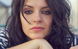 Close-up portrait of beautiful young woman Royalty Free Stock Photo
