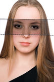 Close-up portrait of beautiful young woman Stock Photo