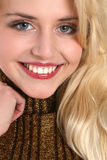 Close-up portrait of a beautiful young woman Royalty Free Stock Images
