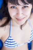 Close up portrait of a beautiful young woman Royalty Free Stock Photography