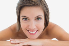 Close up portrait of a beautiful young woman Royalty Free Stock Images