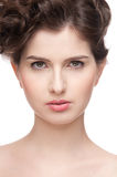 Close up portrait of beauty woman Royalty Free Stock Photo